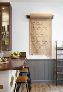 Industrial-paper-roll-message-board-for-the-kitchen-e1376260849429