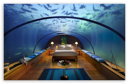 Bedrooms: The Underwater Hotel, The Maldives