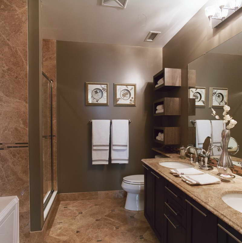 How to make a small bathroom look bigger part 1 home for Bathroom remodeling pictures and ideas