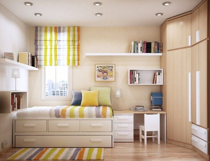 how to make the most of a small bedroom  home / planetfem,